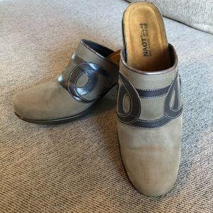 Naot Mule Clog Heel Slip On Leather Shoe